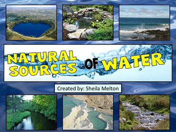 Natural Sources of Water PowerPoint