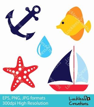 Nautical Digital Clip Art (FREE)
