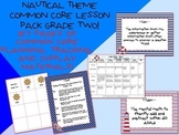 Nautical Theme Grade Two Common Core Lesson Planning Pack