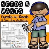Needs and Wants Book Create A Book & Sorting Activity
