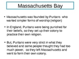 New England Colonies Guided PowerPoint