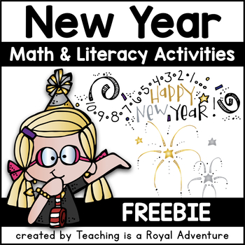 Happy New Year Literacy and Math Unit PLUS: Student Resolution Craft