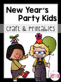 New Year's Party Kids Craftivity & Printables