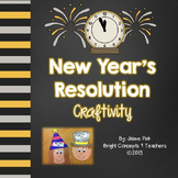 New Year's Resolution Craftivity {Writing and Class Book}