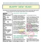 New Year's Scavenger Hunt Informational Text Pack