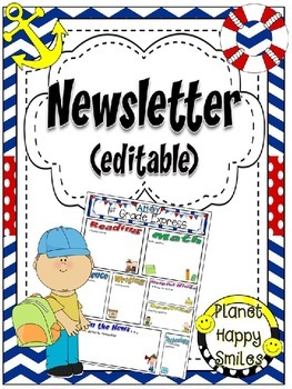 Newsletter (Editable) ~ Nautical