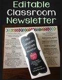Newsletter Template - Editable Classroom Newsletter Brochu