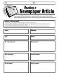 Newspaper Article Summary Form