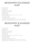 Newspaper Scavenger Hunt2