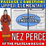 Nez Perce Native Americans Passage and Questions