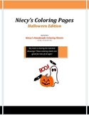 Niecy's Coloring Pages: Halloween Edition