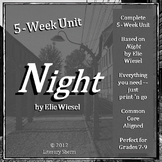 Night by Elie Wiesel: Complete Unit for Middle School (Gra