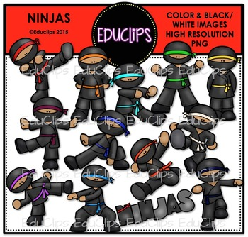 Ninjas Clip Art Bundle