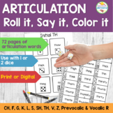 No Frills Articulation: Roll it, Say it, Color it!