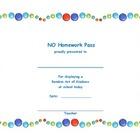 No Homework Pass for Random Act of Kindness