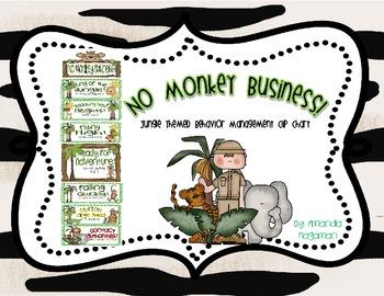 No Monkey Business! (Jungle Behavior Management Clip Chart)