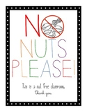 No Nuts Please! Classroom Sign