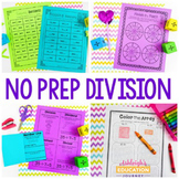 No Prep Division Printables