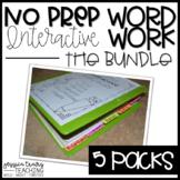 No Prep Interactive Word Work - The BUNDLE
