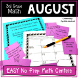 No Prep MATH Centers for August {3rd Grade} (Back to School)