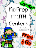 No Prep MATH Centers for January FREE Sampler {2nd-4th}