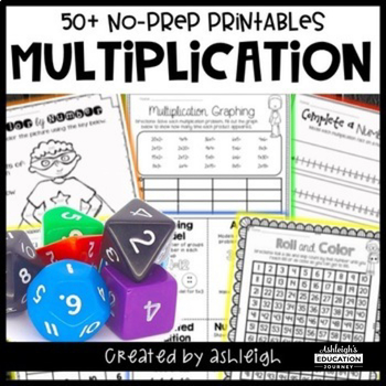 No Prep Multiplication Printables