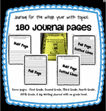 No Prep Writing Journal with Topic Headers for the Entire Year