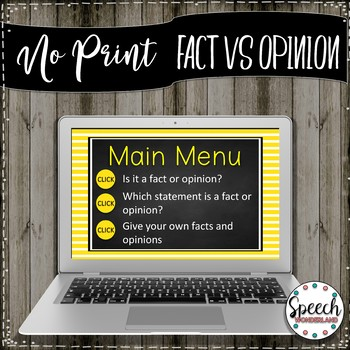 No Print Fact Vs Opinion