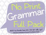 No Print Grammar: Full Pack