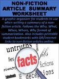 Non-Fiction Article Summaries