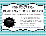 Non Fiction Reading Choice Board (Support Activities & Tas