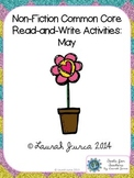 Non-Fiction Common Core Read-and-Write Activities: May