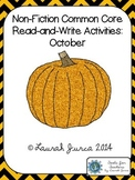 Non-Fiction Common Core Read-and-Write Activities: October