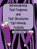 """Non-Fiction Text Features """"Up"""" Words Activity (Information"""