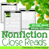 Nonfiction Close Reads for the Spring Months {CCSS Aligned}