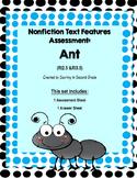 Nonfiction Text Features Assessment Ant