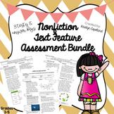 Nonfiction Text Features Assessment Bundle (3rd & 4th Grade)