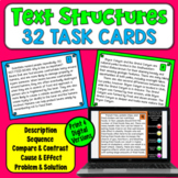 Informational Text Structures Task Cards (32 task cards)