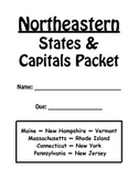 Northeastern States and Capitals Review Packet