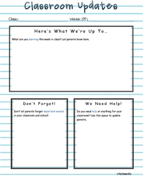 Notebook Paper Newsletter