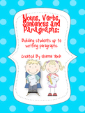 Nouns, Verbs, Sentences and Paragraphs