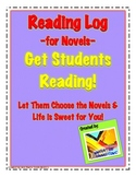 Novel Log Printables: Writing Summaries & Reflections; Vocabulary