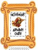 November Alphabet Chant
