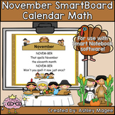 November Calendar Math/Morning Meeting for SMARTBoard