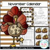 November Daily Calendar/Weather Activities...Math Review a