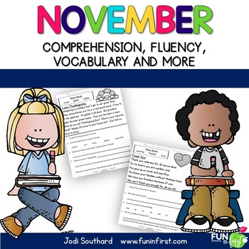November Fluency Packet - Common Core Correlated