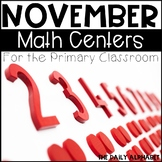 November Math Centers for the Primary Classroom
