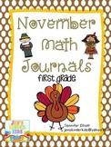 November Math Journals {First Grade}