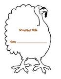 November Math Word Problems Shapebook