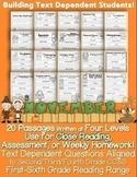 November Passages: Use For Close Reading or Homework *Alig